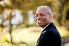 Grande uomo di affari di sorriso Fotografie Stock Libere da Diritti