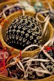 Uovo di Pasqua dello struzzo Fotografie Stock