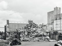 Grande usine de rebut métallique de pile de décharge de solution Images libres de droits