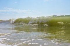 Grande vague verte image libre de droits