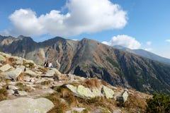 Grande vale frio em Vysoke Tatry Tatras alto, Eslováquia foto de stock