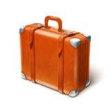 Grande valise en cuir Photographie stock libre de droits