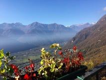 Grande vallée dans Lombardia Images libres de droits