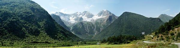 Grande valle della montagna Immagine Stock