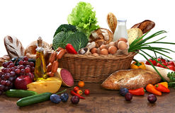 Grande varietà di alimento Fotografia Stock Libera da Diritti