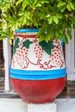 Grande vaso da fiori decorativo fotografia stock libera da diritti