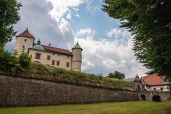 Grande vecchio castello in Polonia Immagini Stock