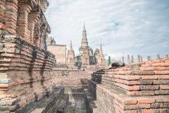 Grande vecchio tempio e bello fondo Fotografia Stock Libera da Diritti