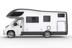 Grande veicolo bianco del campeggiatore - vista laterale royalty illustrazione gratis