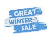 Grande venda do inverno Imagens de Stock Royalty Free