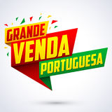 Grande venda Portuguesa - Portuguese big sale portuguese text Stock Photo