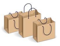 Grande vendita dei sacchetti della spesa, tutto esaurito, vendita al dettaglio, sconto di Black Friday, Illustrazione Vettoriale