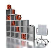 grande vendita del testo rosso 3D Immagine Stock