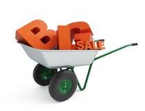 Grande vendita della carriola Fotografie Stock Libere da Diritti