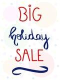 Grande vendita di festa, struttura della bolla Parola di vettore di vendita scritta mano nel fondo bianco Illustrazione d'iscrizi royalty illustrazione gratis