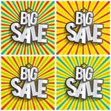 Grande vendita di hard discount illustrazione vettoriale