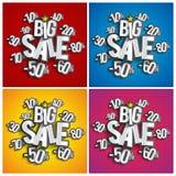 Grande vendita di hard discount illustrazione di stock