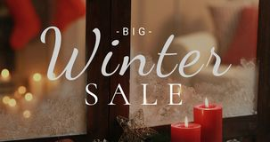 Grande vendita di inverno contro la decorazione 4K 4k di Natale archivi video