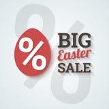 Grande vendita di pasqua. Fotografia Stock