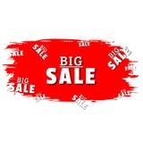 Grande vendita Etichetta di rosso di vendita di offerta speciale illustrazione di stock