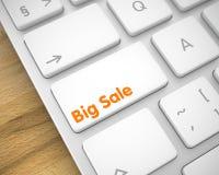 Grande vendita - iscrizione sulla chiave di tastiera bianca 3d Immagine Stock Libera da Diritti