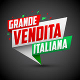 Grande vendita italiana - Italian big sale italian text. Vector modern colorful banner - eps available Stock Photography