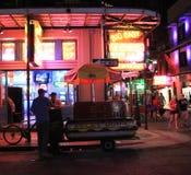 Grande venditore facile del hot dog Fotografie Stock