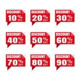 Grande vente Étiquettes de prix discount remise de label d'autocollant de la parole MA Photographie stock