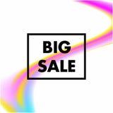 Grande vente dans le cadre noir avec le fond d'abrégé sur forme de maille Photo stock