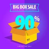 Grande vente de boîte, offres spéciales et remises Image libre de droits