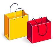 Grande vente de paniers, trahison, vente au détail, remise de Black Friday, Illustration Stock
