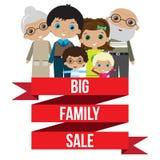 Grande vente heureuse de famille images stock