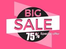 Grande vente, offre spéciale Remise de 75% conception de calibre de bannière Vecteur illustration libre de droits