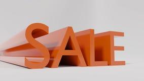 Grande vente rouge sur un fond blanc - rendu 3D Images stock