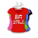 Grande vente sur l'habillement Photographie stock libre de droits