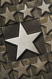 Grande verticale della stella fotografie stock libere da diritti