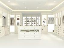 Grande vestuário branco rendição 3d Foto de Stock