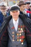 Grande veterano di guerra mondiale con le medaglie Fotografia Stock