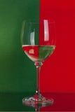 Grande vetro su rosso e su verde Fotografia Stock