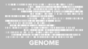Grande vettore genomica orizzontale di visualizzazione di dati illustrazione vettoriale