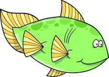 Grande vettore verde dei pesci Fotografie Stock Libere da Diritti