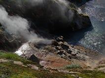 Grande viagem a Kamchatka Lugares misteriosos Imagem de Stock