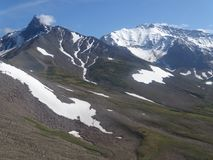 Grande viaggio a Kamchatka Posti misteriosi Immagine Stock