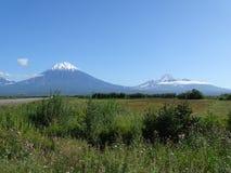 Grande viaggio a Kamchatka Posti misteriosi Fotografia Stock