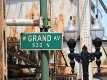 Grande viale del centro di Chicago ruggine Fotografia Stock