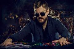 Grande victoire dans le casino photographie stock libre de droits