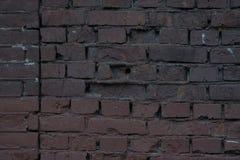 Grande vieille texture minable rouge-brun de fond de place de mur de briques Clay Brick texturisé sale Images libres de droits
