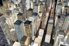Grande ville Images libres de droits