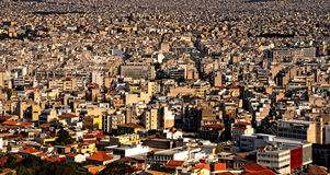 Grande ville Athènes Photo stock