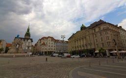 Grande ville Brno avec le château de Spilberk Photo libre de droits